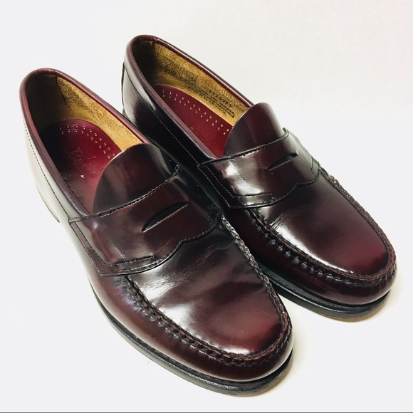 90d89aee3a6 Bass Shoes - EUC Vintage Bass burgundy leather penny loafers 11